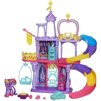 my little pony crystal rainbow castle toys. Black Bedroom Furniture Sets. Home Design Ideas
