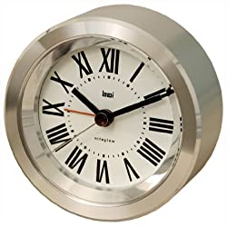 BAI Astor Aluminum Travel Alarm Clock, Roman