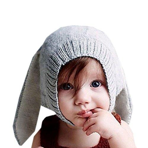 La Vogue Baby Cute Ear Hats Winter Crochet Earmuff Earcap Knit Hat ()