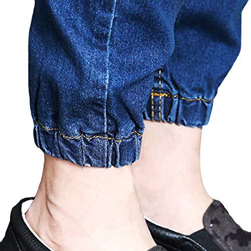 Déchiré Pour Geurzc Pantalons Denim Stretch En Slim Bleu Trou Homme Jogger Jeans Jean Destroyed Skinny Hommes Ripped À WWqZIHP
