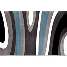 Rugshop Abstract Contemporary Modern Area Rug, 2' x 3', Blue