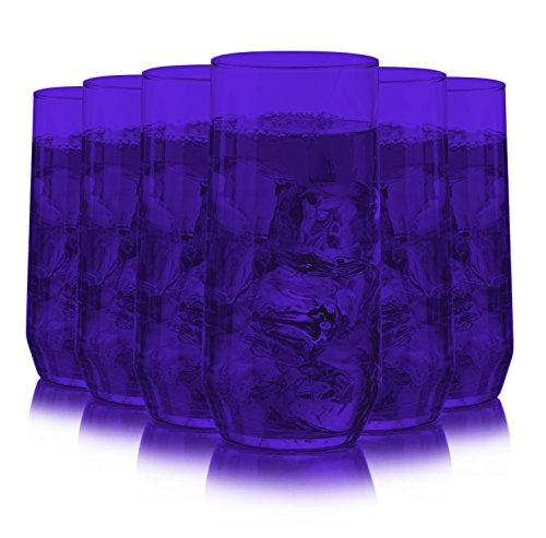 - Libbey Diamond Swirl 6 -Piece Glassware Set Full Purple Color Additional Vibrant Colors Available by TableTop King