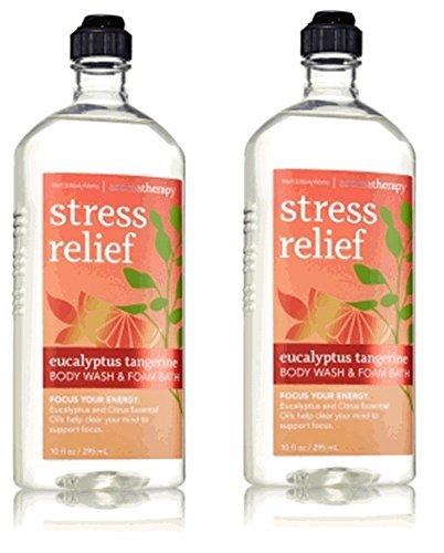 Tangerine Bath Kit - Lot of 2 Bath & Body Works Aromatherapy Stress Relief Eucalyptus Tangerine Body Wash & Foam Bath 10 Fl. Oz