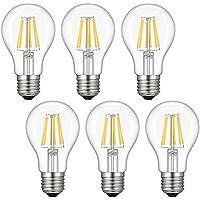 6-Pack Kohree Dimmable Edison Led E26 Light Bulb (Soft Warm White)