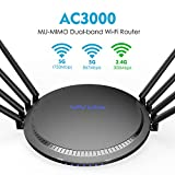 WAVLINK Quantum T8 AC3000 Wireless MU-MIMO Tri-Band Gigabit Router Smart Wi-Fi Router with Touchlink