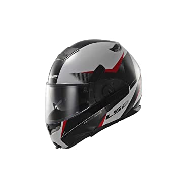 LS2 Casco Convertible FF393 HAWK, Rojo, S