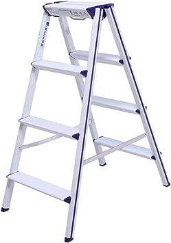 Escalera De Aluminio De 4 Pasos, Taburete Plegable De La Plataforma Multiuso Para La Cocina Casera Interior, Carga 100kg: Amazon.es: Bricolaje y herramientas