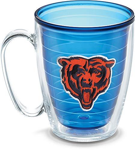 Tervis 1086038 NFL Chicago Bears Emblem Individual Mug, 16 oz, Sapphire