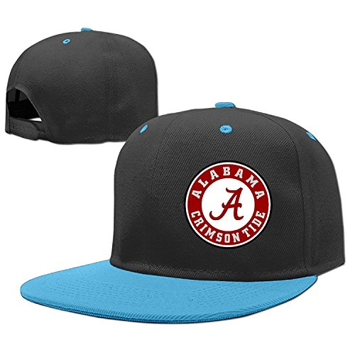 Alabama Crimson Tide Football Yea Alabama Logo Boys Rock Punk Caps Cool Flat Bill Hip Hop Hats