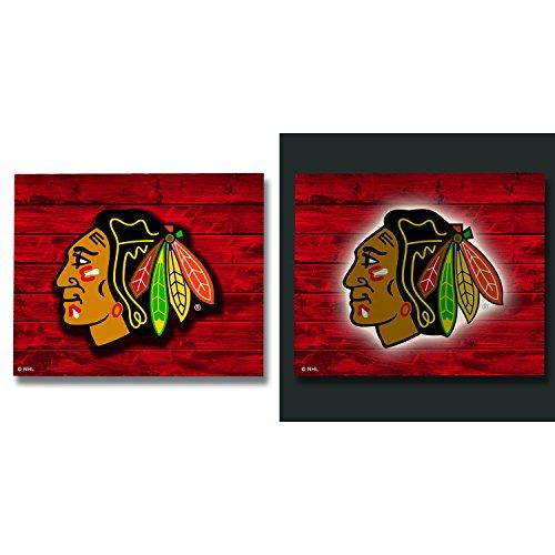 Team Sports America Chicago Blackhawks LED Metal Wall Art