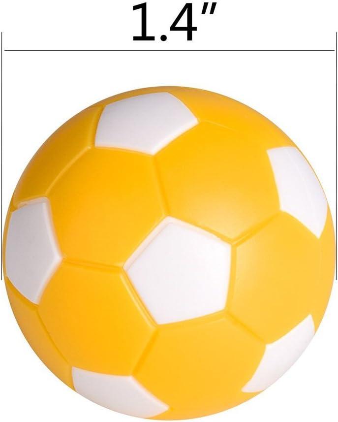 LIOOBO 6 Pcs 36mm Futbolines Plástico Mesa Mini Pelotas de fútbol, futbolín balones para niños y Adultos Fiesta cumpleaños favores Bolsas Fiesta Juego de Juguete ...
