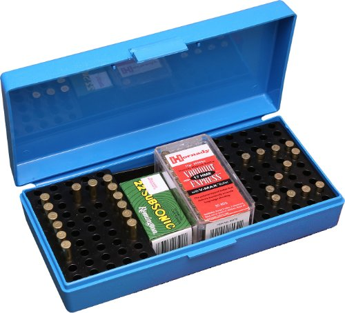 MTM 200 Round Small Bore Ammo Box .22 Long Rifle (Blue), Outdoor Stuffs