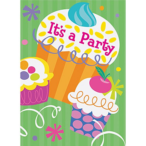 Cupcake Party Invitations, -