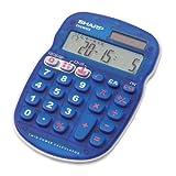 Sharp 10-Digit Calculator Drill Function 3-1 3 x 5 x 3 4 Inches Blue SHRELS25BBL