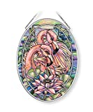 Amia Think Pink, Flamingo Glass Suncatcher, 7 Inches High, 7', Multicolor