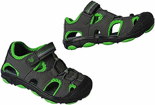Kinder Trekking Sandale Schuhe Outdoorsandale Sandalette Gr.25 - 36 Art.-Nr.5336 d.grau