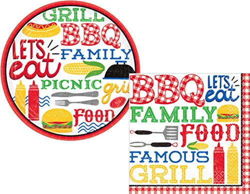 BBQ Picnic Party Supply Pack for 18 Guests