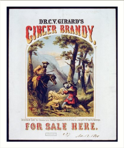 Historic Print (L): Dr. C.Y. Girard's ginger brandy, for sale here - A certai...
