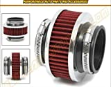 """HPP Cold Air Intake ByPass Valve Filter 3"""" 76mm (in red) 2010-1988 Cadillac: Allante, Brougham, DeVille, Eldorado, Seville, Cimarron, 60 Special, Escalade, Catera, CTS, SRX, STS, XLR, DTS"""
