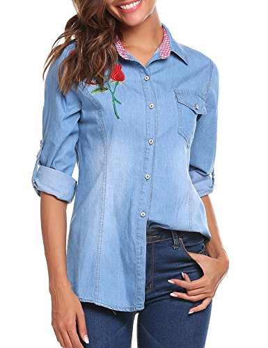 Womens Snap Pocket Jeans - 1
