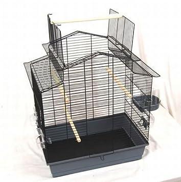 Pájaro jaula Susi, Gris/Negro, 60 x 40 x 65 cm: Amazon.es ...