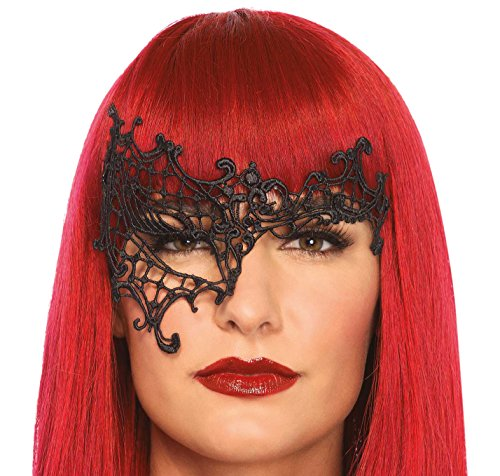 Leg Avenue Women's Daring Eye Mask Costume Accessory, Black, One (Daring Fancy Dress Costumes)