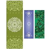 ASJ non-slip yoga towel, fitness towel, yoga mat - safe, durable, beautiful, portable - birthday gifts, holiday gifts