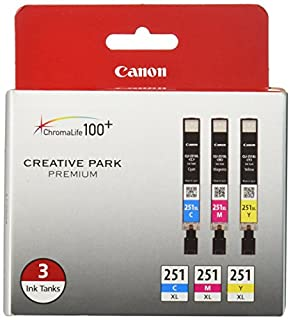 Canon CLI-251XL 3-Ink Value Pack, Compatible for MX922,iP8720,iX6820,MG7520, MG6420, MG5620, and MG5721 Printers (B00COFGXM8) | Amazon Products