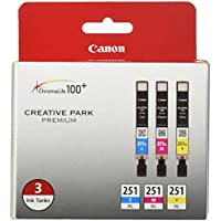 Canon CLI-251XL 3-Ink Value Pack, Compatible for...