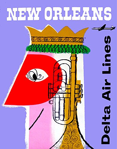 Travel Poster.New Orleans Jazz King.7243