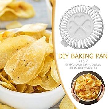Hornear Microondas Horno Herramientas Patata Chip Maker Bandeja de ...
