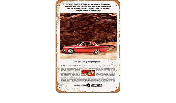 Carmelita 1964 Plymouth Sport Fury 426 - Cartel de Metal para ...