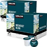 Kirkland Breakfast Blend Coffee Pods 25 Count for Keurig Brewer Caffeinated Coffee