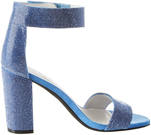 Campbell Mujer Lindsay JS Jeffrey Tacón Fabric 1 Blue con Zapatos Abierta 001 de Punta Azul para 4TwxwdnP