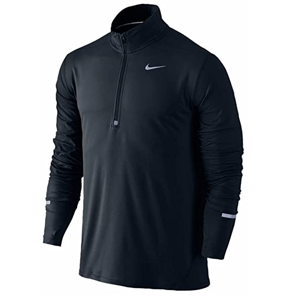 65157e2c Amazon.com: Nike Dri-FIT Element Men's Long Sleeve Half-Zip Running Top,  Black, Large: Clothing