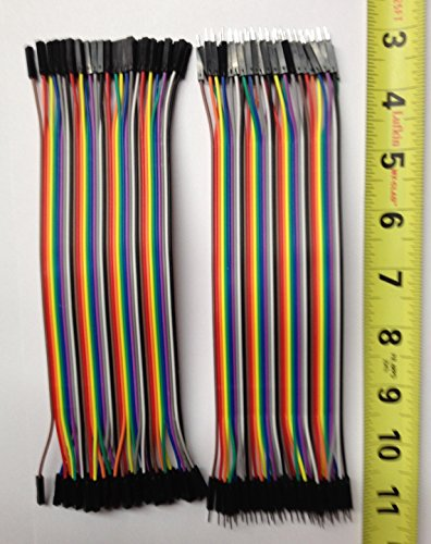 DuPont style Jumper wire cable assemblies 20cm long 2.54 1P-1P Male-Male / Female-Female 40 pcs of each, RBTMKR
