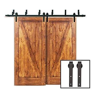 Amazon Com Tcbunny 6 6 Ft Bypass Double Door Sliding Barn