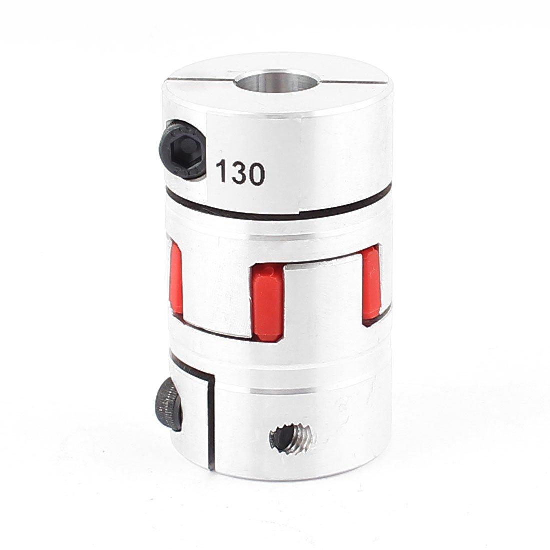 uxcell 14mm x 14mm Flexible Plum Coupling Shaft D40 L66 Stepper Motor Coupler