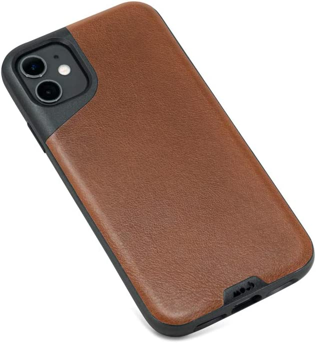 Mous Contour No Screen Protector Protective Case for iPhone 11 Black Leather