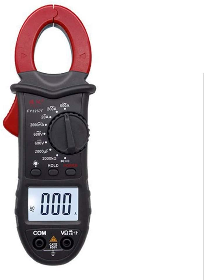 Multimeter Digital Clamp Meter 600A High Current Clamp Ammeter 2000Uf Capacitance Meter