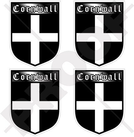 Shield British - CORNWALL Cornish County England British Shield UK Britain 50mm (2