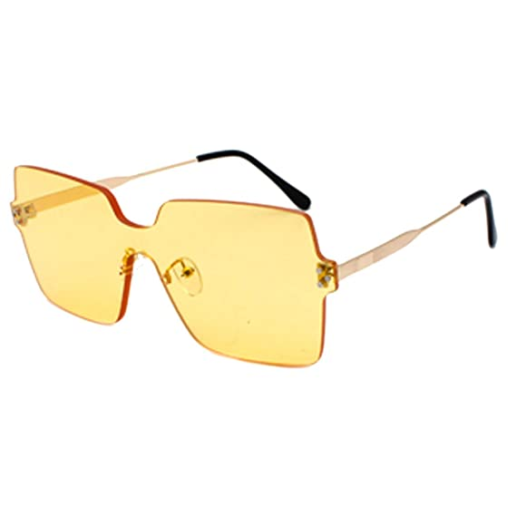 MUCHAO Nuevas gafas de sol sin marco de la moda marina Gafas ...