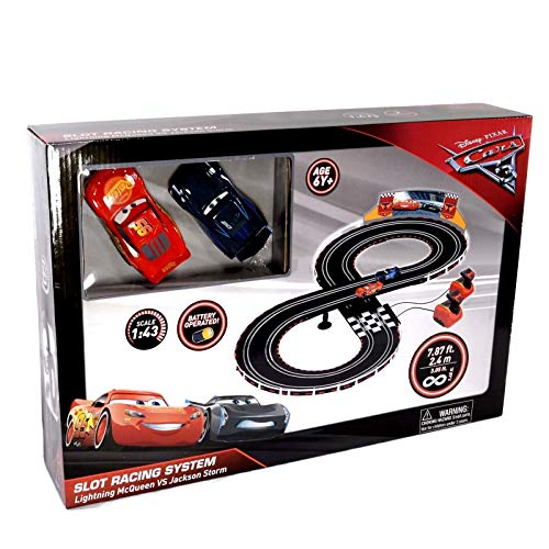 Pixar Cars Slot Racing System - Lightning McQueen vs Jackson Storm