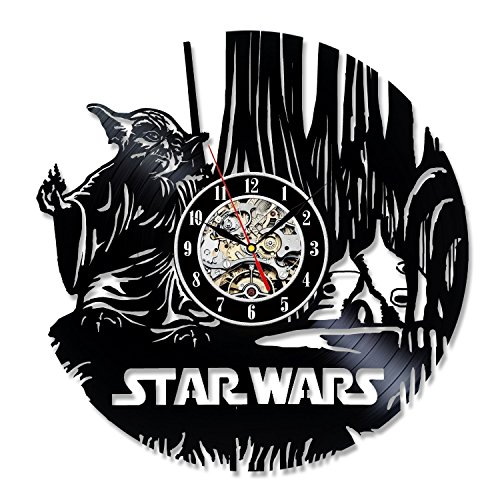 [Star Wars Vinyl Record Wall Clock Best Gift] (Father Son Star Wars Costumes)