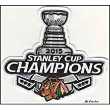 NHL CHICAGO BLACKHAWKS 2015 CHAMPIONS STANLEY CUP Patch Shirts Hats Jackets Bags Easy Iron On