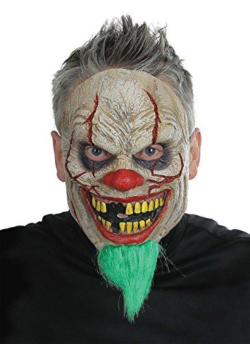 Morris Bad News Bearded Clown Mask Costume Halloween Party Scary Adult +eBook