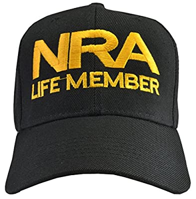 NRA Life Member Hat Black by Incrediblegifts