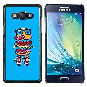 LECELL--Funda protectora / Cubierta / Piel For Samsung Galaxy A5 A5000 -- hamburguesa gafas azules rápido callejeros de alimentos --