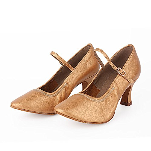 Des Mädchens Der Frauen Professional Latin Schuhe Obermaterial Satin Sandalen Salsa / Ballroom Dance Schuh Med (weitere Farben),Black-39