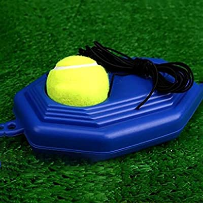 Binory Tennis Trainer Rebounder Baseboard Tennis Ball Self-Study Practice Tool Forehand Backhand Wrist Skill Single Tennis Training Equipment Exercise Aid for Adult Kid Beginner(Base Board+Ball+Line): Toys & Games